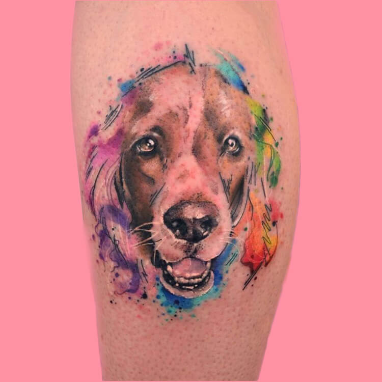 Dog Tattoo Ideas That Will Melt Heart 6