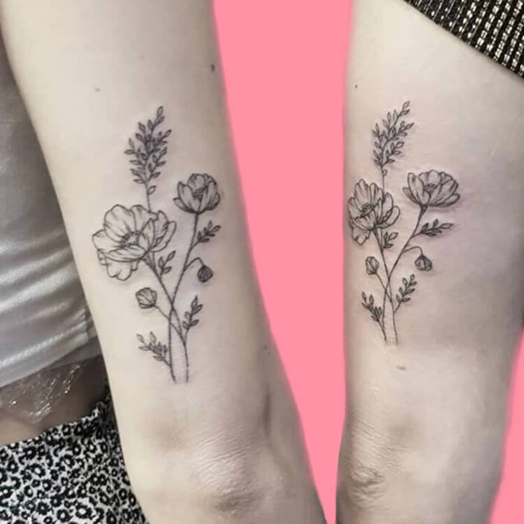 30+ Meaningful Matching BFF Tattoos Designs to Try for Ladies and Sisters 53