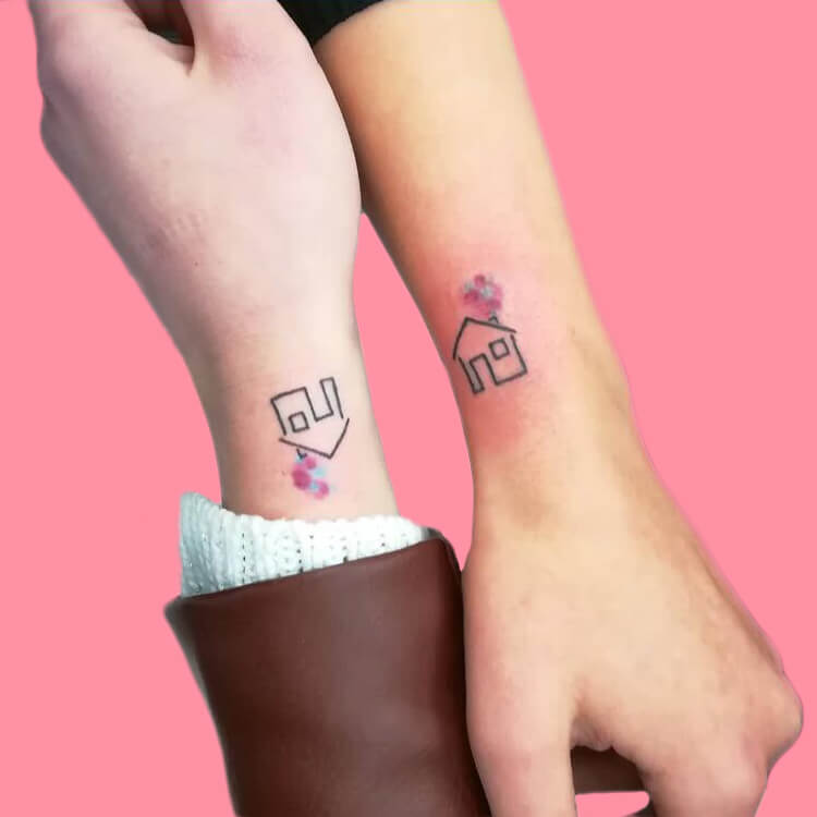 30+ Meaningful Matching BFF Tattoos Designs to Try for Ladies and Sisters 56