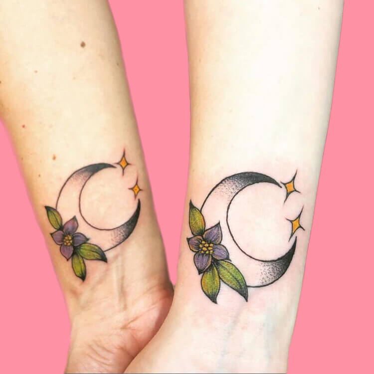 30+ Meaningful Matching BFF Tattoos Designs to Try for Ladies and Sisters 58