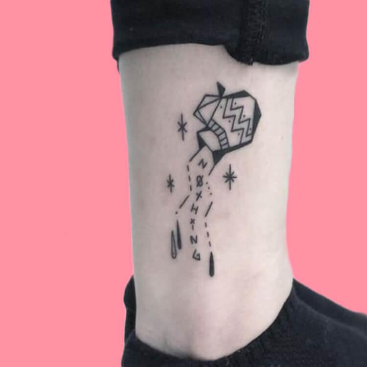Constellation-Aquarius 4 tattoos