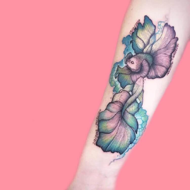 Constellation-Pisces 3 tattoos