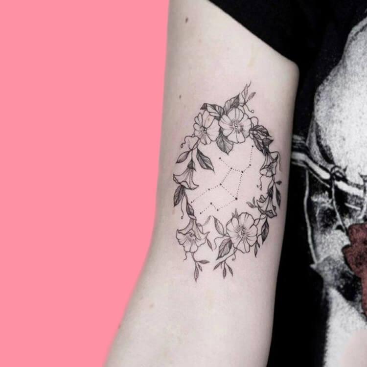 Constellation-Virgo-2 tattoos