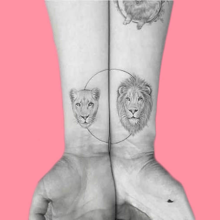 50 Meaningful Matching Couple Tattoo Designs for Lovers to try 65