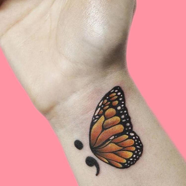 Show Meaningful Semicolon Tattoo Ideas 1