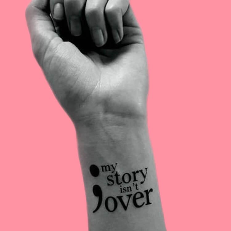 Show Meaningful Semicolon Tattoo Ideas 2