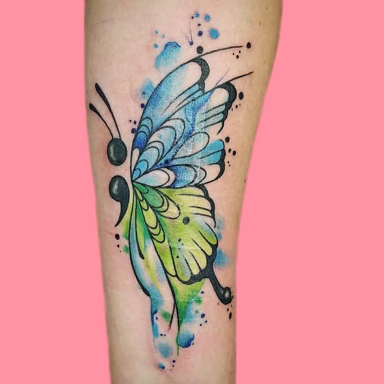 Show Meaningful Semicolon Tattoo Ideas 6