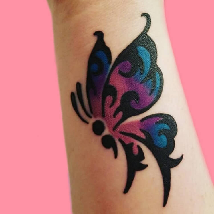 Show Meaningful Semicolon Tattoo Ideas 16