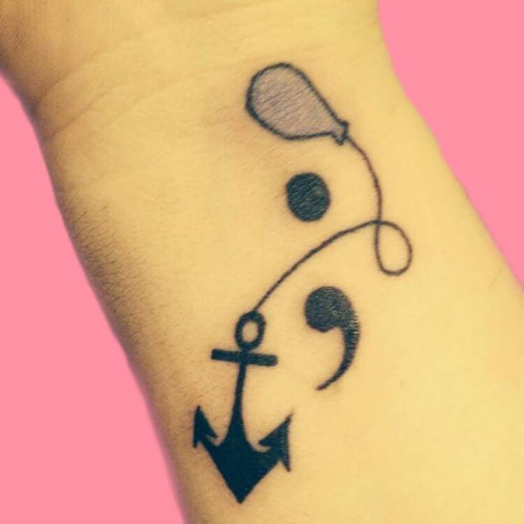 Show Meaningful Semicolon Tattoo Ideas 18