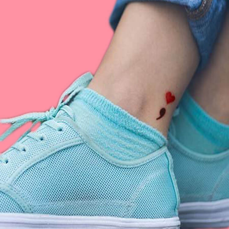 Show Meaningful Semicolon Tattoo Ideas 22