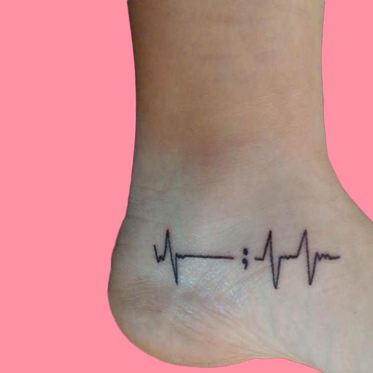 Show Meaningful Semicolon Tattoo Ideas 23