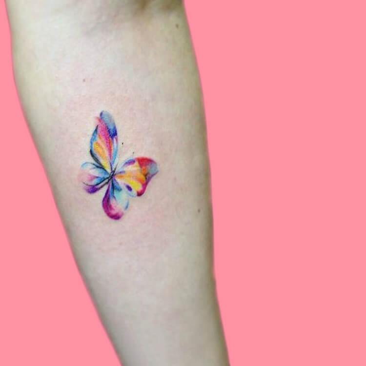 Show Beautiful Butterfly Tattoo Designs for Women 42