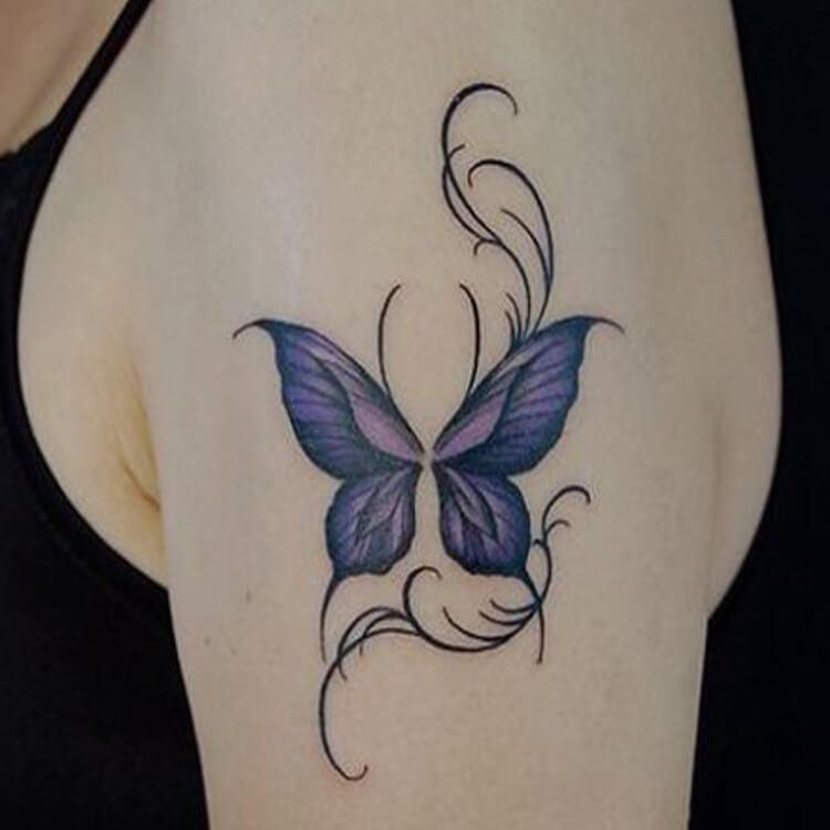 Show Beautiful Butterfly Tattoo Designs for Women 47
