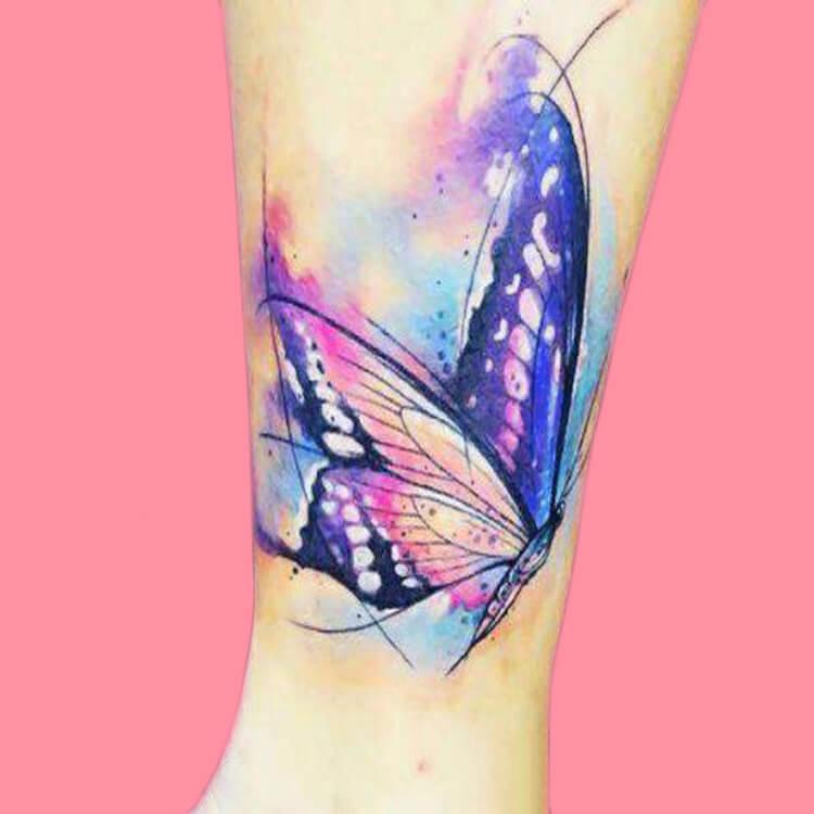Show Beautiful Butterfly Tattoo Designs for Women 49