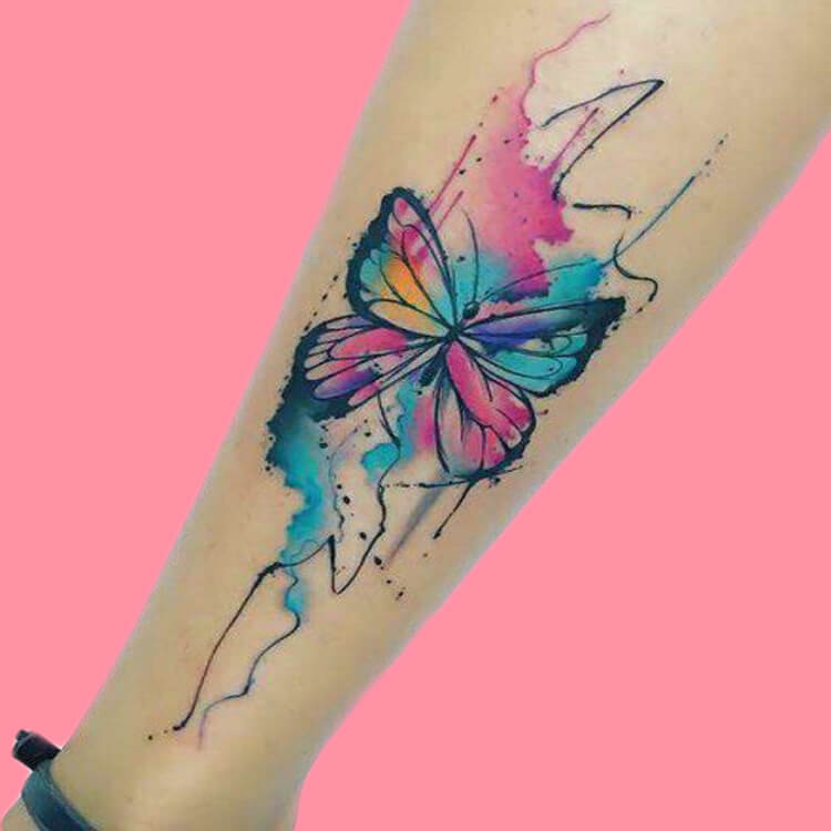 Show Beautiful Butterfly Tattoo Designs for Women 50