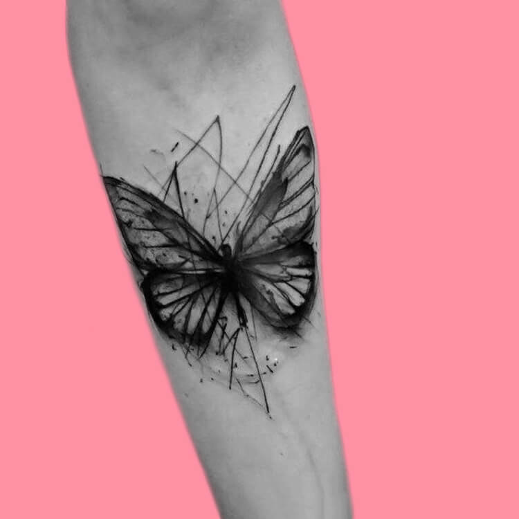 Show Beautiful Butterfly Tattoo Designs for Women 51