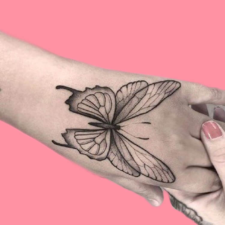 Show Beautiful Butterfly Tattoo Designs for Women 55