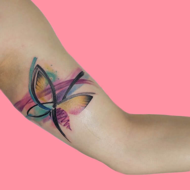 Show Beautiful Butterfly Tattoo Designs for Women 58