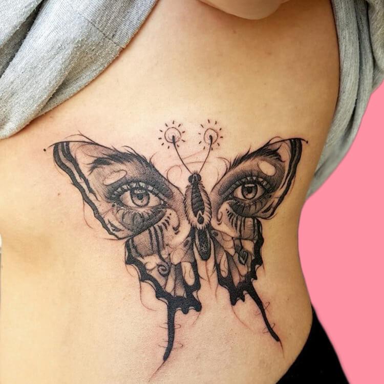 Show Beautiful Butterfly Tattoo Designs for Women 59
