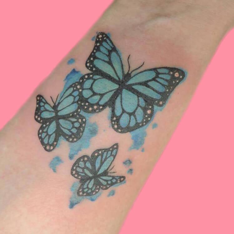 Show Beautiful Butterfly Tattoo Designs for Women 62