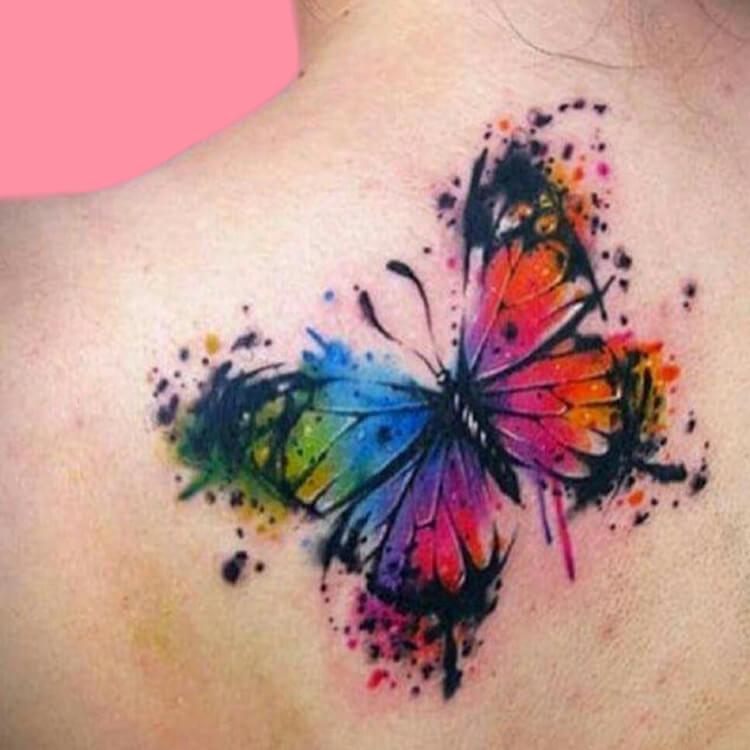 Show Beautiful Butterfly Tattoo Designs for Women 63