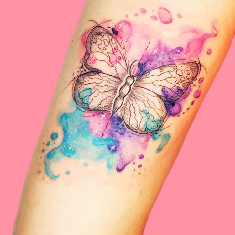 Show Beautiful Butterfly Tattoo Designs for Women 64