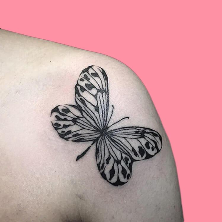 Show Beautiful Butterfly Tattoo Designs for Women 66