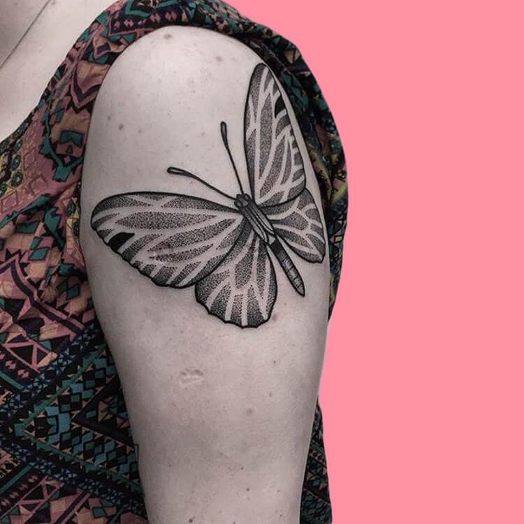 Show Beautiful Butterfly Tattoo Designs for Women 67
