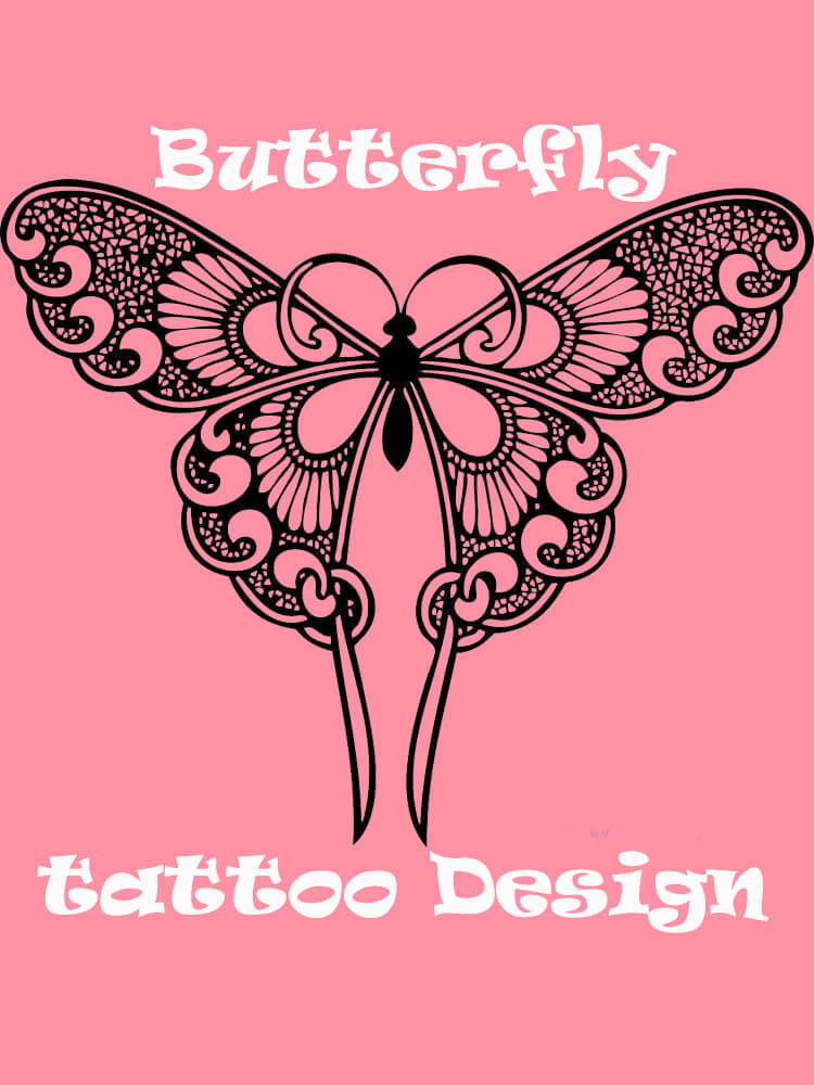 Show Beautiful Butterfly Tattoo Designs for Women