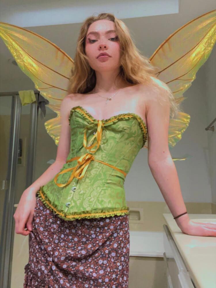 Halloween Corsets for Women Corset Top Bustier Lace Up Corset Plus Size Overbust